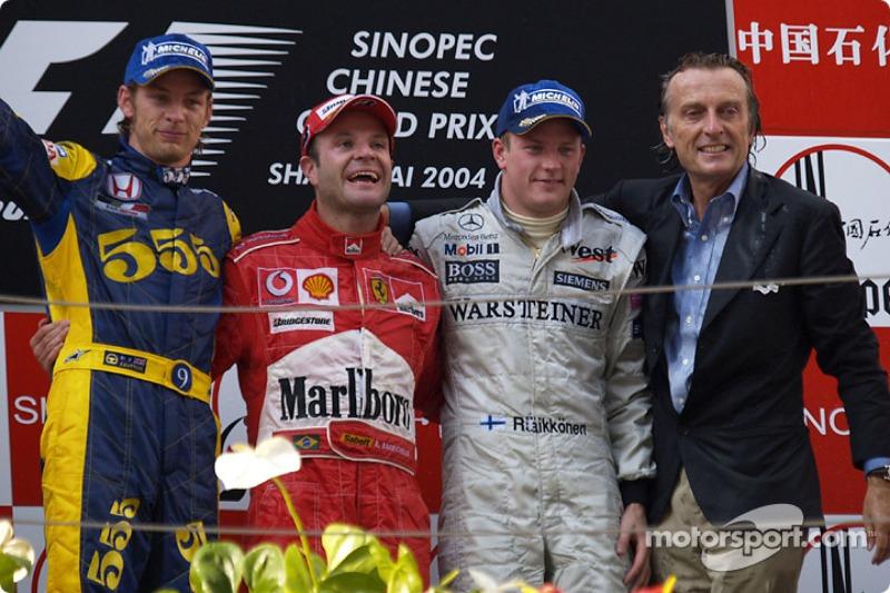 2004 : 1. Rubens Barrichello, 2. Jenson Button, 3. Kimi Räikkönen