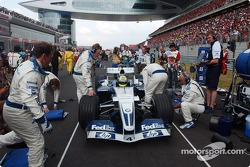 Ralf Schumacher on the starting grid