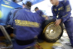 Subaru World Rally Team at work