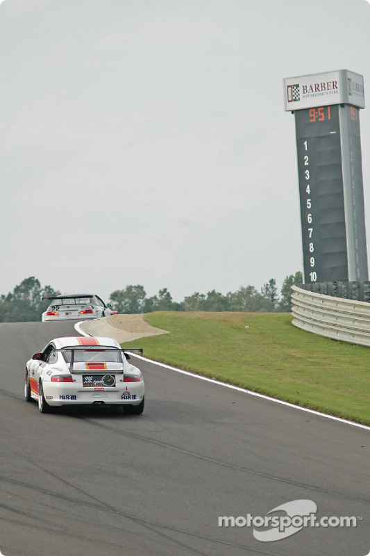La Porsche GT3 Cup n°04 Grease Monkey Racing : Gene Sigal