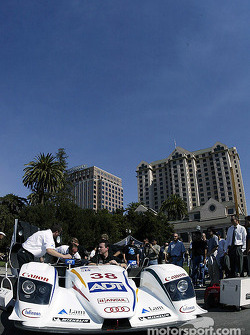 The Sixth Annual Mini Le Mans of San Jose: ADT Champion Racing Audi in Plaza de Cesar Chavez
