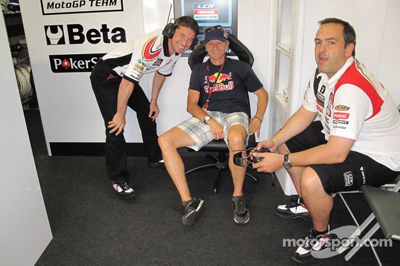 Le manager de LCR Honda Lucio Cecchinello