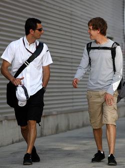 Pedro de la Rosa, BMW Sauber F1 Team, Sebastian Vettel, Red Bull Racing