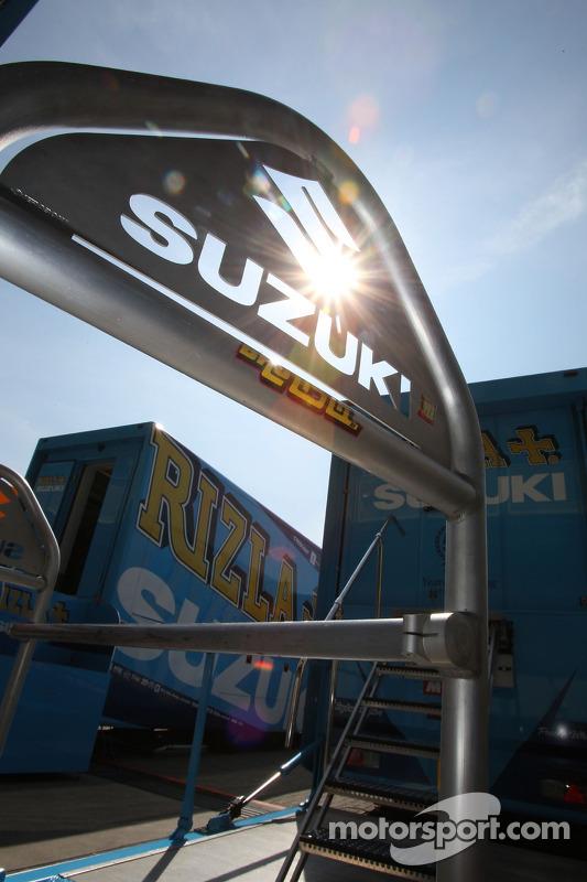 Rizla Suzuki MotoGP paddock