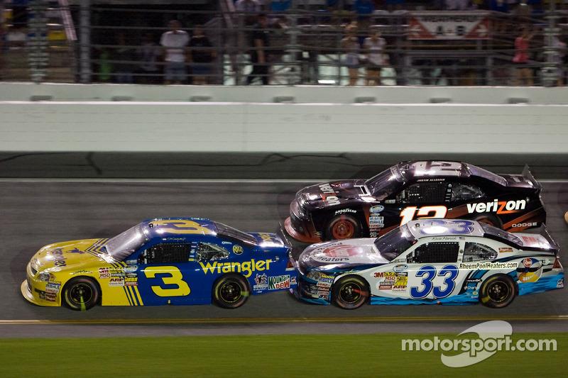 Dale Earnhardt Jr., Kevin Harvick en Justin Allgaier