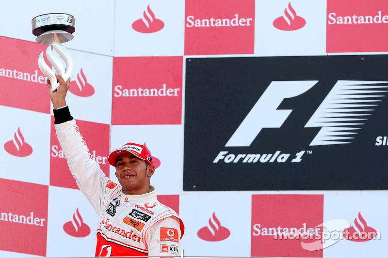 Podium: 2de Lewis Hamilton, McLaren Mercedes