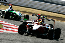 Esteban Gutierrez leads Alexander Rossi and Robert Wickens