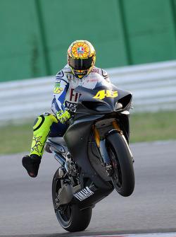 Valentino Rossi, Fiat Yamaha Team test después de su accidente