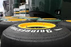 Lotus F1 Team spare tyres