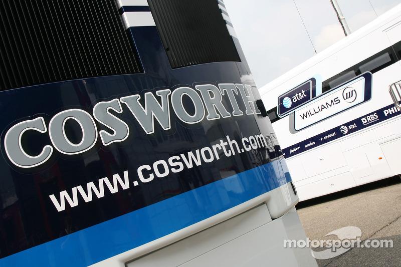 Cosworth truck in the paddock