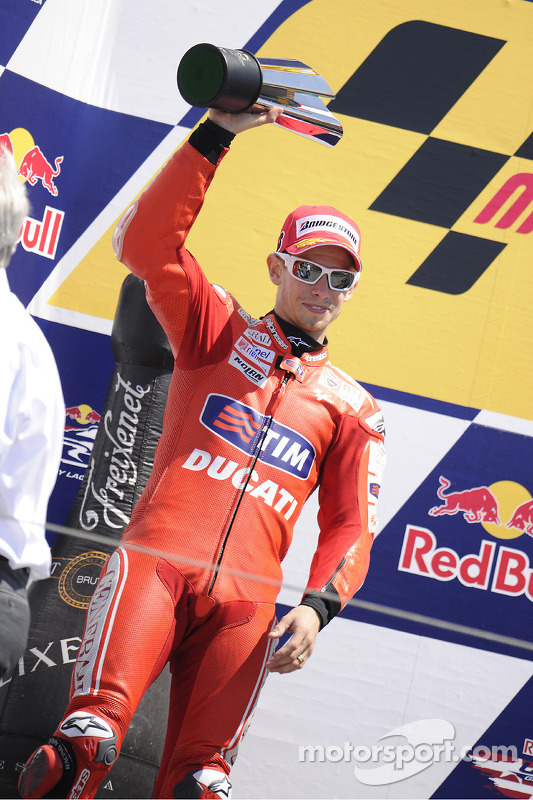 Podium: seconde place pour Casey Stoner, Ducati Marlboro Team