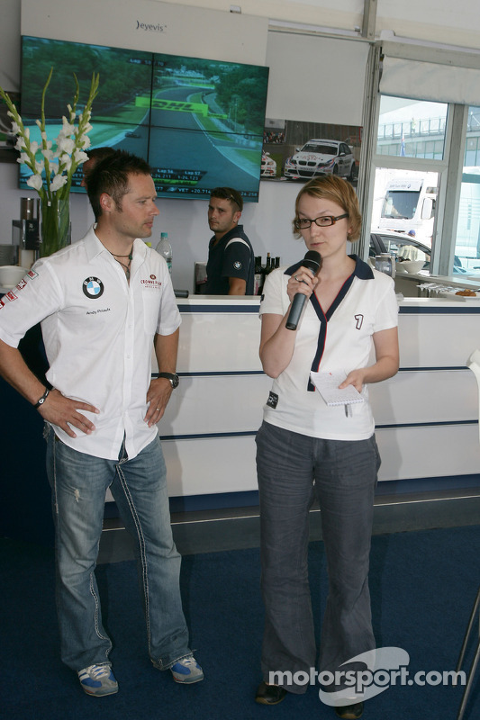 Meet the Driver met Andy Priaulx BMW Team RBM BMW 320si