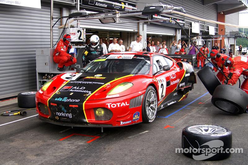 Pitstop #2 AF Corse - ALD Team Vitaphone Ferrari F430 GT2: Gianmaria Bruni, Bert Longin, Eric Van De Poele, Toni Vilander