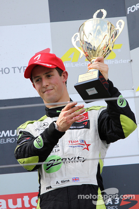 Podium: 3de Alexander Sims, ART Grand Prix Dallara F308 Mercedes