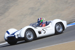 Dan Gurney es honrado, Dario Franchitti en un Birdcage Maserati que corrió Gurney