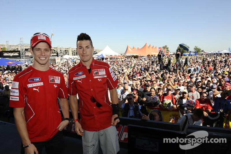 Casey Stoner en Nicky Hayden, Ducati Marlboro Team