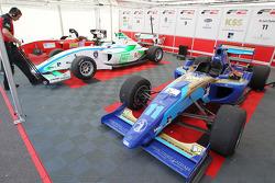 The F2 cars of Jack Clarke, Mihai Marinescu and Julian Theobald