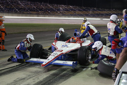 Pit stop for Alex Lloyd, Dale Coyne Racing