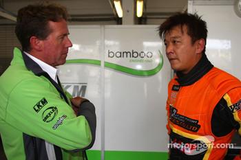 Yukinori Taniguchi bamboo-engineering Chevrolet Lacetti with with his engineer