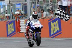 Jorge Lorenzo, Fiat Yamaha Team, finisht als tweede