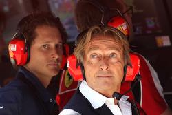 Luca di Montezemolo, Scuderia Ferrari, FIAT Chairman and President of Ferrari and John Elkann,  President of the Fiat Group and nephew Of Gianni Agnelli
