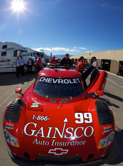 #99 GAINSCO/ Bob Stallings Racing Chevrolet Riley at post-qualifying technical inspection