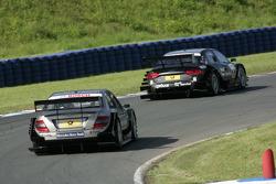 Bruno Spengler, Team HWA AMG Mercedes C-Klasse en Timo Scheider, Audi Sport Team Abt Audi A4 DTM
