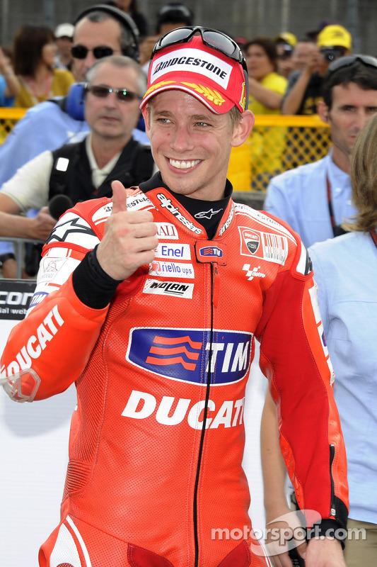 Race winnaar Casey Stoner, Ducati Marlboro Team