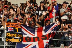 Fans van Jenson Button, McLaren Mercedes