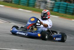 Pre-event go-kart: Angel Nieto