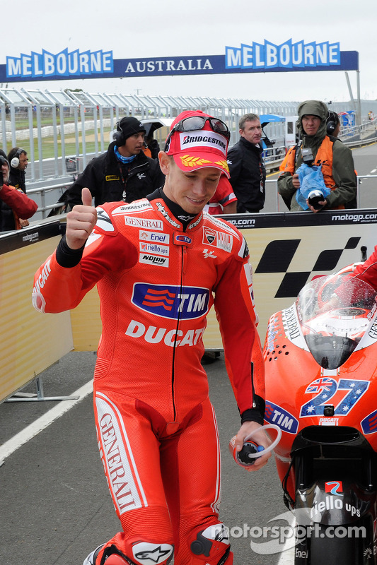 Le poleman Casey Stoner, Ducati Marlboro Team
