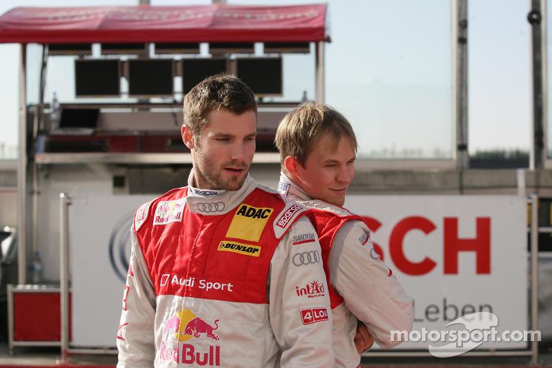Martin Tomczyk, Audi Sport Team Abt Audi A4 DTM et Mattias Ekström, Audi Sport Team Abt Audi A4 DTM