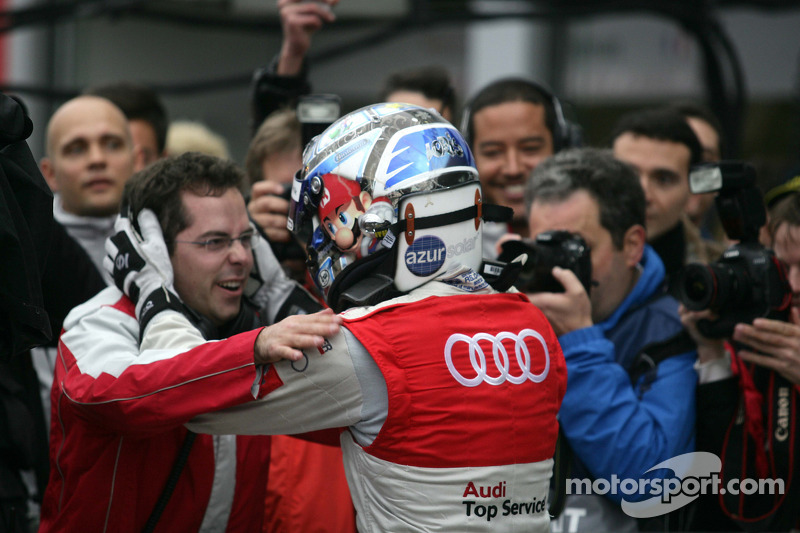 Race winnaar Timo Scheider, Audi Sport Team Abt Audi A4 DTM