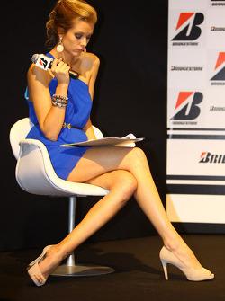 Girl during the Bridgestone conference