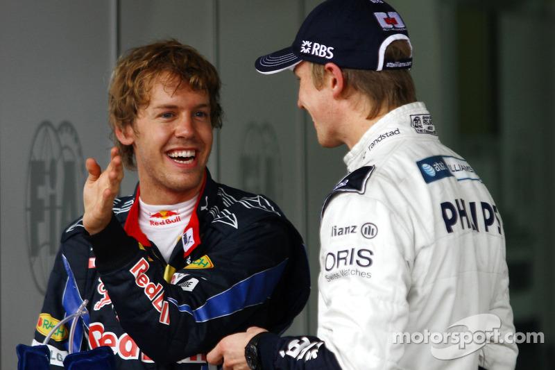 Володар поулу Ніко Хюлькенберг, Williams F1 Team, друге місце Себастьян Феттель, Red Bull Racing