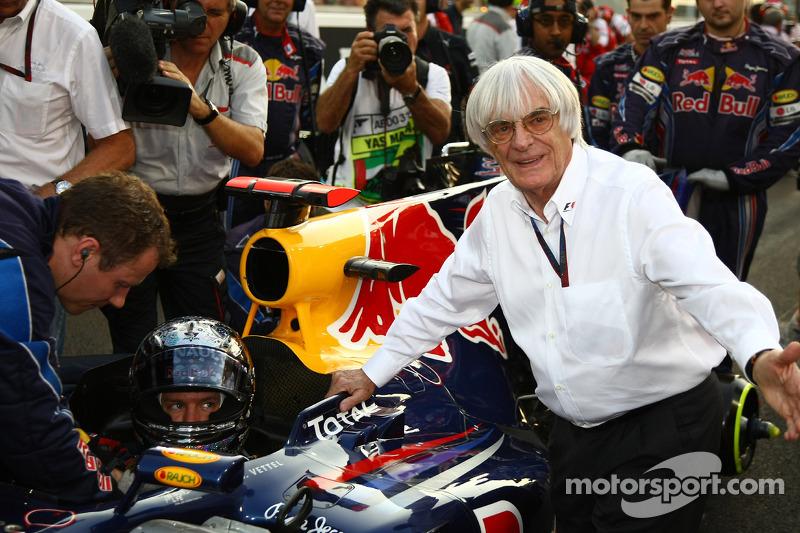 Sebastian Vettel, Red Bull Racing met Bernie Ecclestone