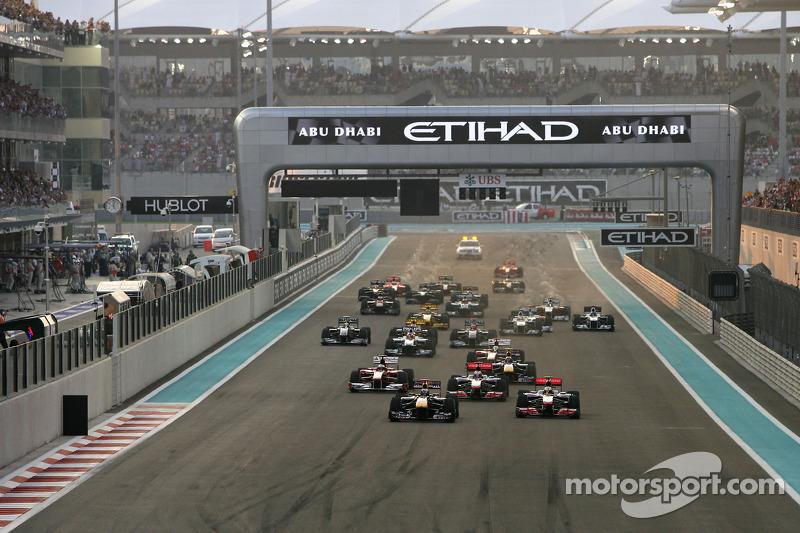 Start van de race, Sebastian Vettel, Red Bull Racing