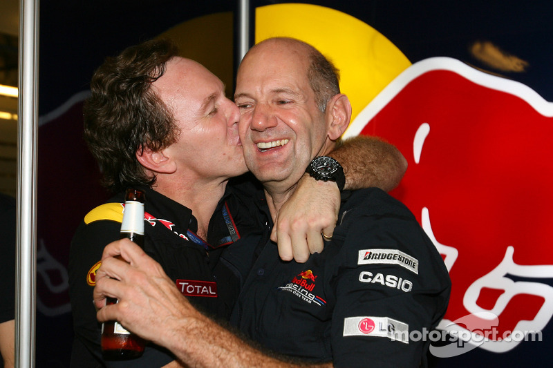 Christian Horner, Red Bull Racing, Sporting Director en Adrian Newey, Red Bull Racing, Technical Ope
