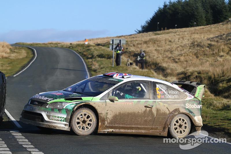 Matthew Wilson et Scott Martin, Ford Focus RS WRC 08, Stobart VK M-Sport Ford Rally Team