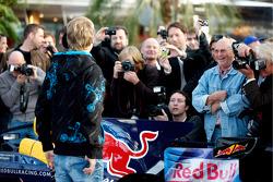 Sebastian Vettel and the press