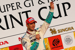 Podium: race winner Andre Lotterer
