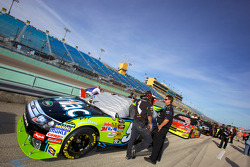 Car of Carl Edwards, Roush Fenway Racing Ford in the qualifying line