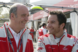 Dr. Wolfgang Ullrich, Audi's Head of Sport and Timo Scheider, Audi Sport Team Abt Audi A4 DTM