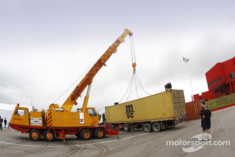 Containers arriveren in San Luis