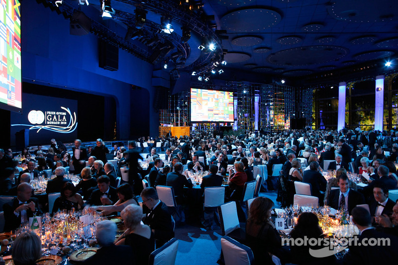 Guests enjoy the evenings proceedings at the 2010 FIA Prize Giving Gala in Monaco