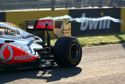 Lewis Hamilton, McLaren Mercedes and his rear wing causing a vortex