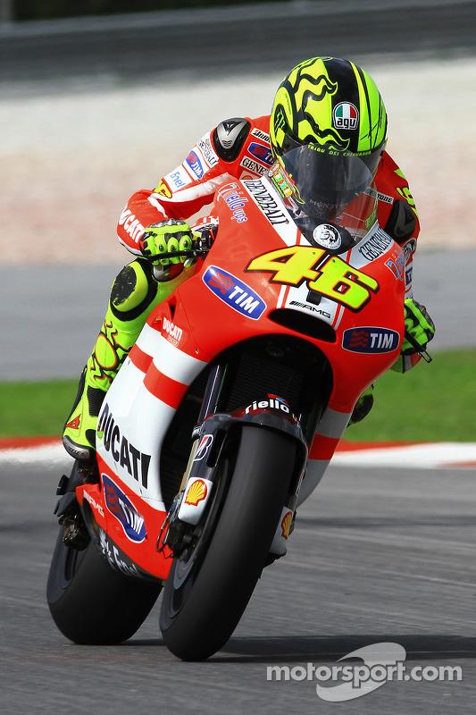 Valentino Rossi, Ducati Marlboro Team at Sepang February test