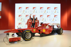 Fernando Alonso, Scuderia Ferrari; Luca di Montezemolo, Ferrari-Präsident; Felipe Massa, Scuderia Ferrari