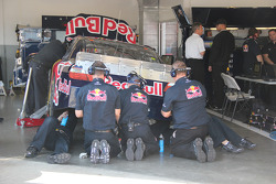 Red Bull Racing Team Toyota team members at work
