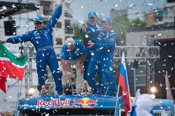 Podium: truck category winners Vladimir Chagin, Sergey Savostin and Ildar Shaysultanov